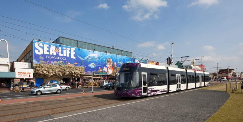 Sea Life Centre And Tram Blackpool Prom