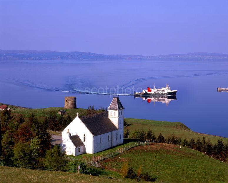 The Ferry Hebridean Isles Arrives At Uig Bay Isle Of Skye