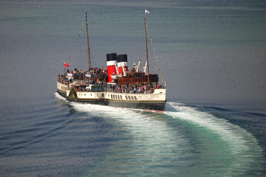 Great Shot Of Waverely Moving Astern From North Pier Oban