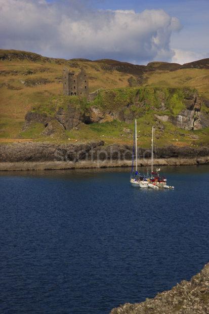 Gylen Castle With Yachts Portrait