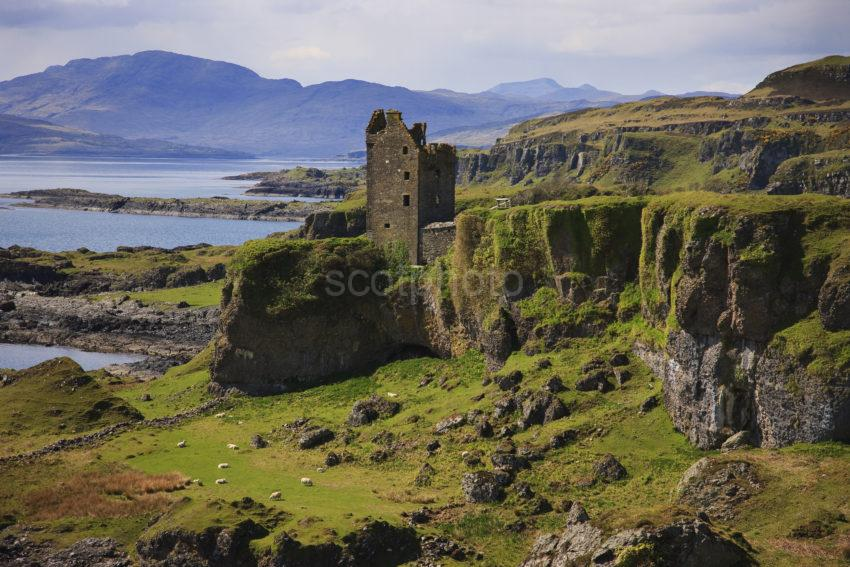 Dramatic New View Of Gylen Castle Kerrera With Mull