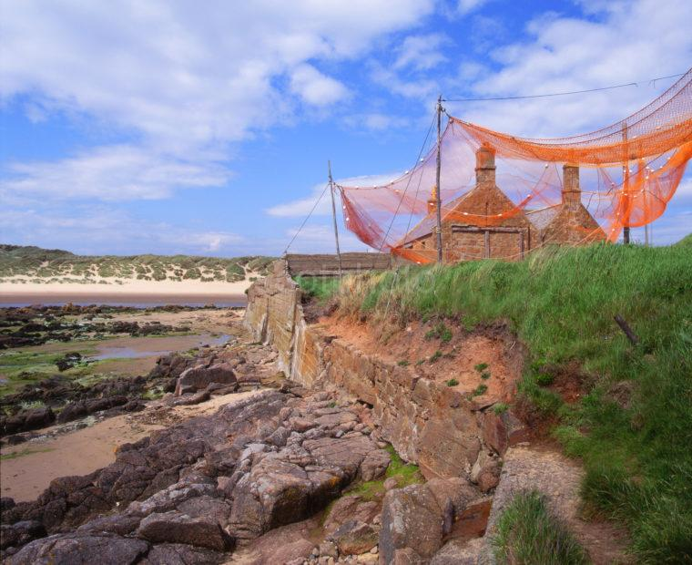 Nets Drying On Cliffs Cruden Bay