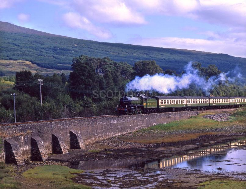 K1 Steam Train On Loch Eil