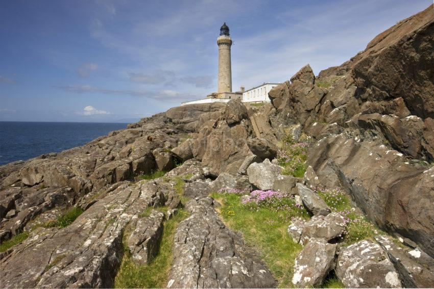 Ardnamurchan Lighthouse From Rugged Cliffs