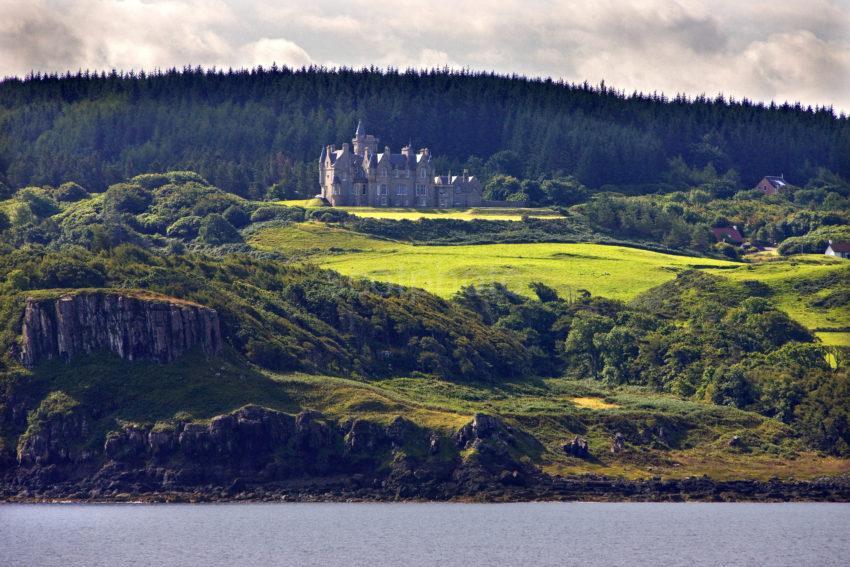 Glengorm Castle From Ferry Mull