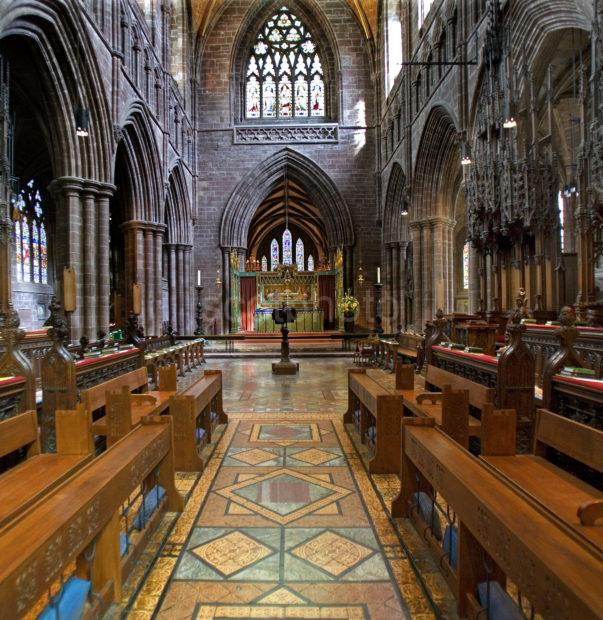 Interior Choirs Chester Cathedral