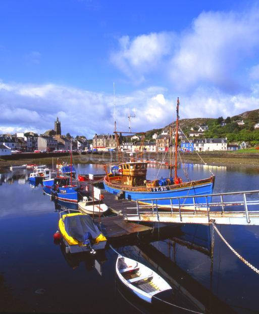 Tarbert Harbour And Town Loch Fyne Kintyre