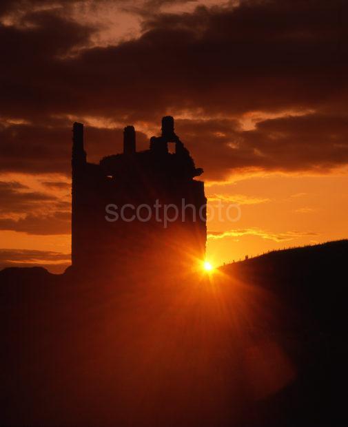 Sunset Starburst Dunskey Castle Galloway