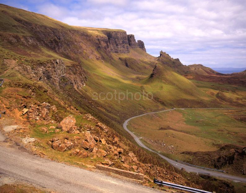 Staffin To Uig Road Towards Storr Rocks And Landslip Sone Trotternish Skye