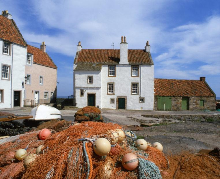 Restored 16th Cent Houses Pittenweem Harbour East Neuk Fife