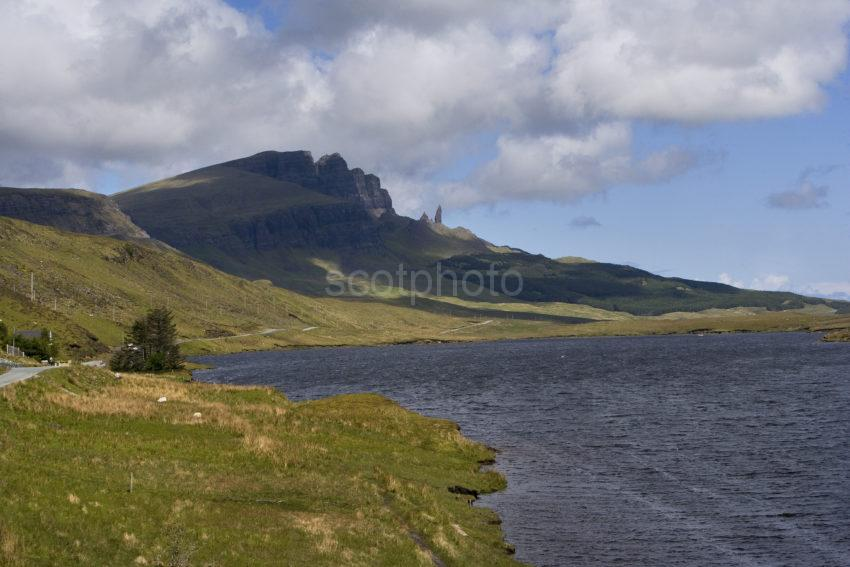 WY3Q8420 Across Loch Fada Towards The Storr And Old Man Of Storr Trotternish Skye