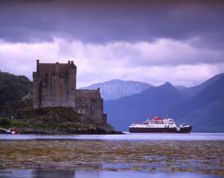 Eilean Donan Castle And The Hebridean Princess Cruise Ship Loch Duich
