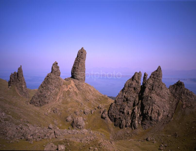 Rugged Scenery Nr Old Man Of Storr Basalt Rocks Trotternish Skye