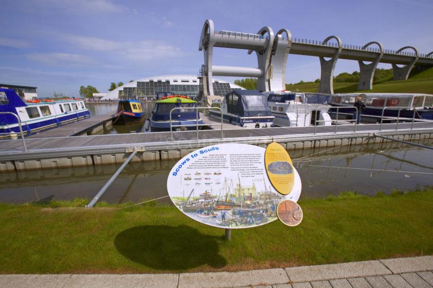 Falkirk Wheel From Plaque
