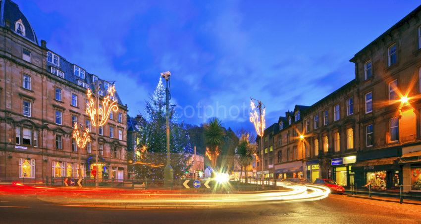 Oban Argyll Square At Christmas