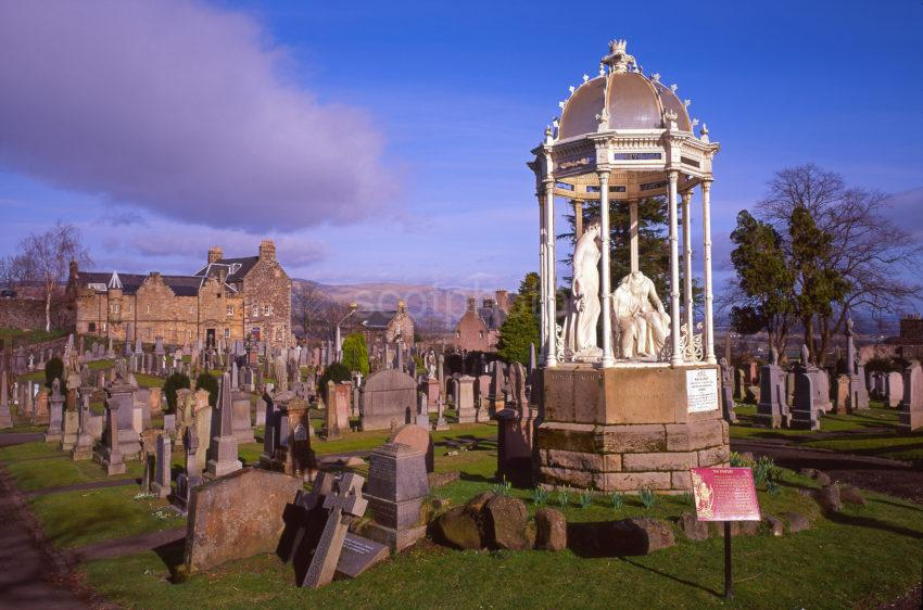 The Church Of The Holyrude With The Statue Of The Heroes In The Foreground Stirlingshire
