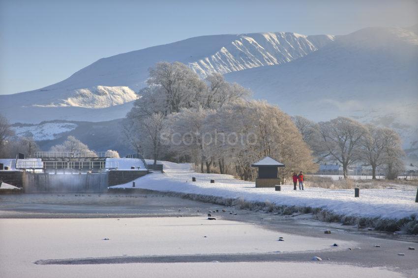Winter Wonderland At Corpach Basin Caledonian Canal