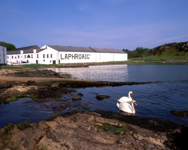 Laphroaig Distillery From The Sea South Coast Of Islay