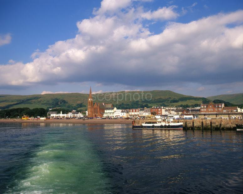 View Towards Largs Seafront From Cumbrae Ferry Ayrshire