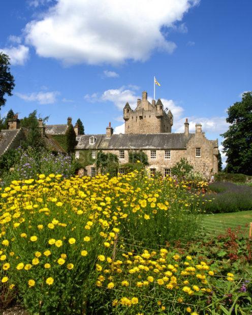 Cawdor Castle From Gardens Nr Cawdor Nairnshire Moray Firth