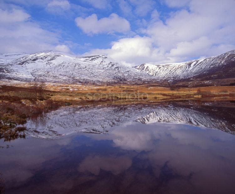 Winter Reflections In Loch Laggan Towards Creag Meagaidh From Aberader Central Highlands