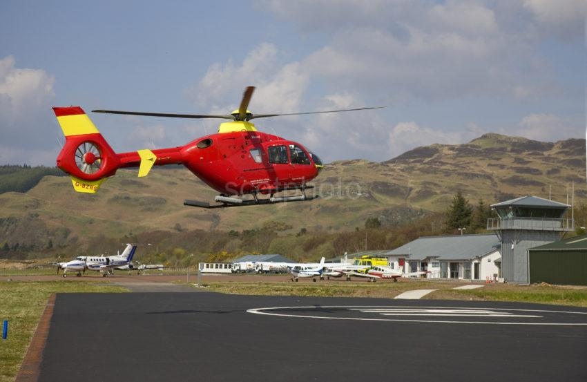 I5D2802 G BZRS Operating Air Ambulance Service At Oban Airport Connel