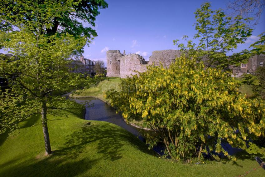 Spring Shot Of Rothesay Castle And Moat