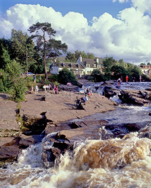 Summer Scene Falls Of Dochart In Killin