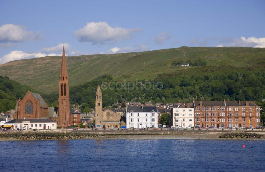 The Town Of Largs As Seen From The Ferry Ayrshire