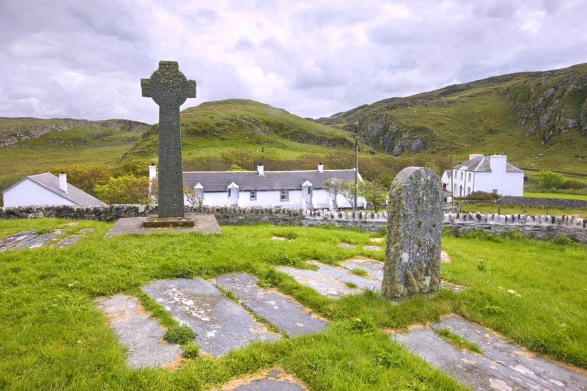 Cross At Kilchoman Church Islay