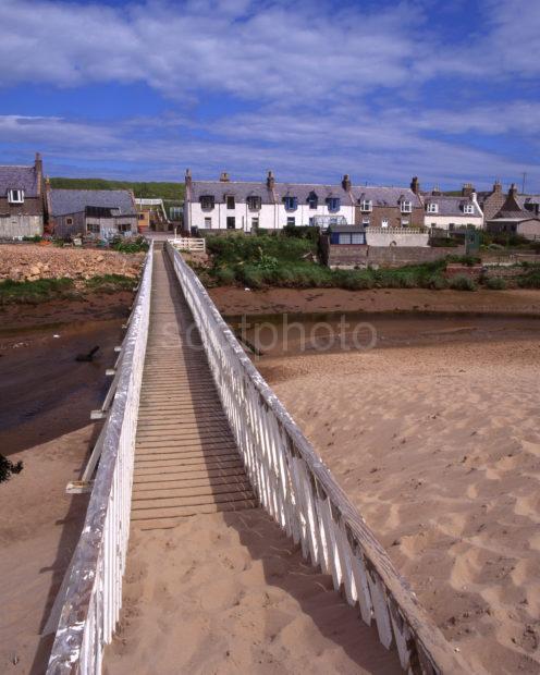Port Errol Village From Sand Dunes Cruden Bay Aberdeenshire