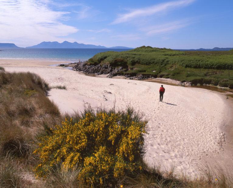 Islands Of Eigg And Rhum From Camusdarroch Beach Nr Morar NW Highlands