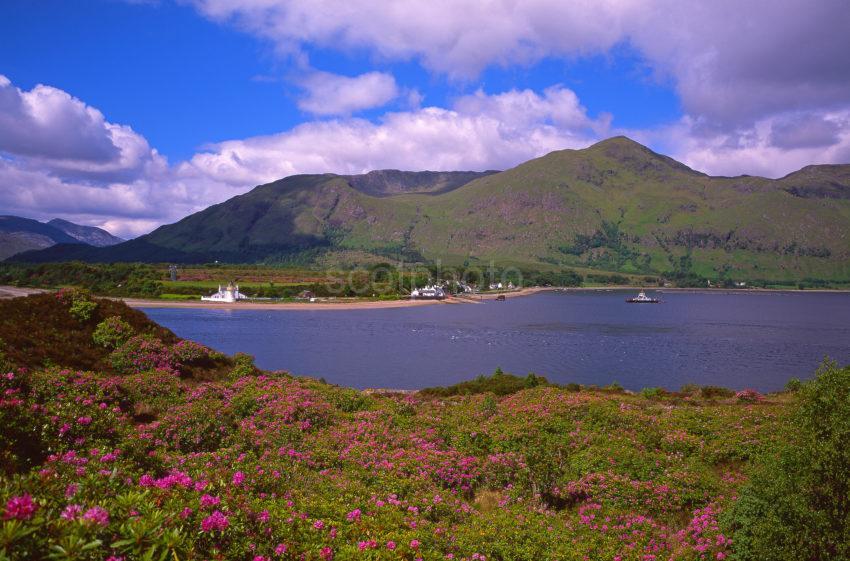 Summer View Across The Corran Sound Towards Ardgour Corran West Highlands