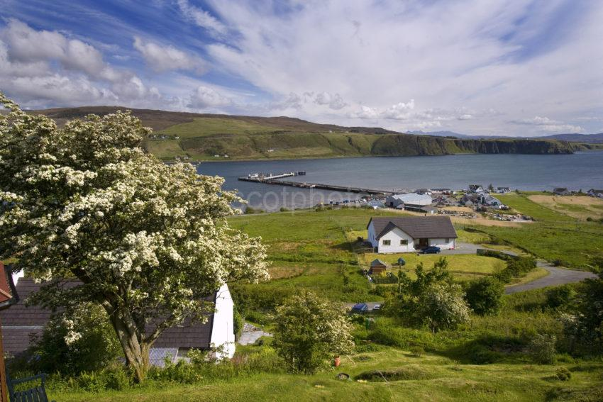 Spring View Uig Bay And Pier Skye