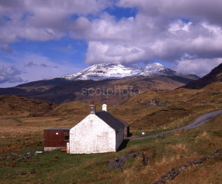 Snow Covered Ben More From Glen More Island Of Mull