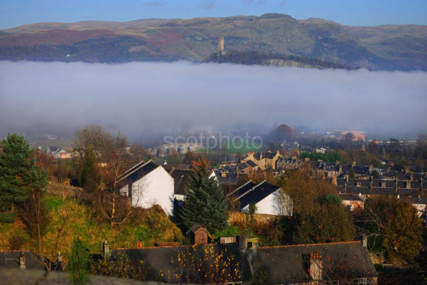 View From Stirling Castle Towards The Wallace Monument