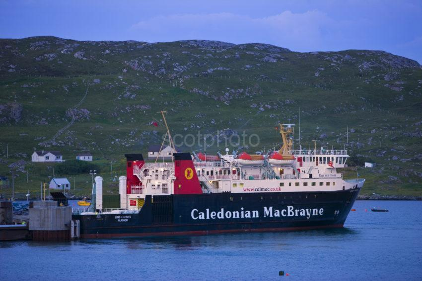 MV Lord Of The Isles Sits At Castlebay Overnight Barra