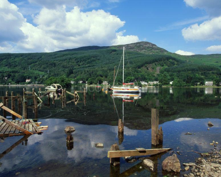 Across Loch Earn Towards St Fillas Perthshire