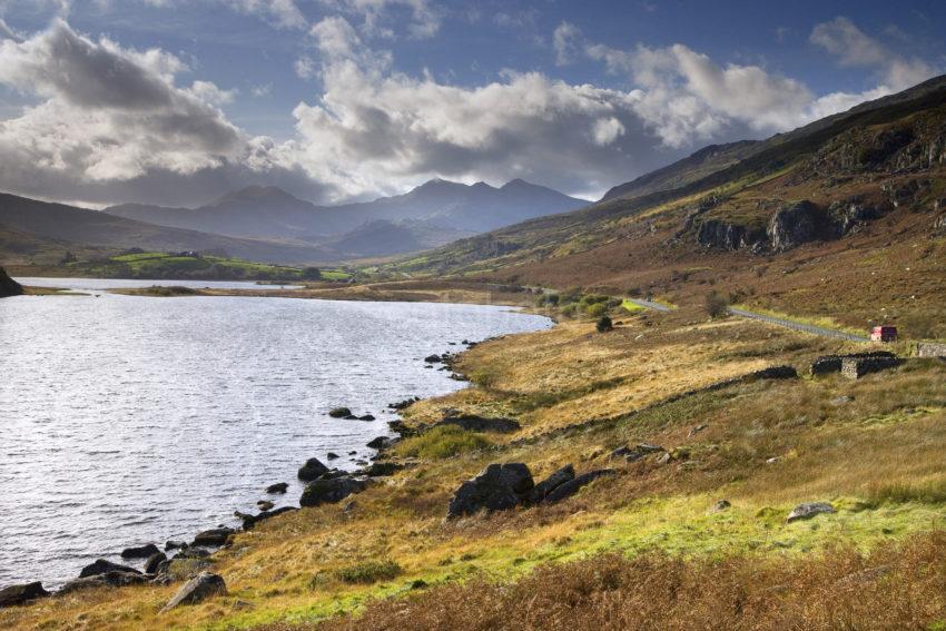 0I5D9466 Llyn Llydaw And Mount Snowdon From Capel Curig N Wales