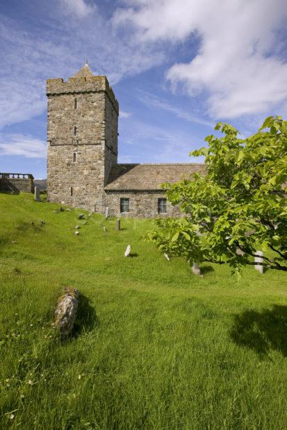 Portrait Of St Clements Church Rodel South Harris