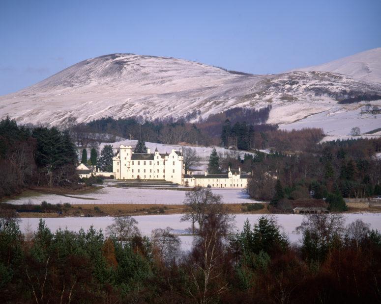 Winter View Towards Blair Castle Nr Blair Atholl Perthshire