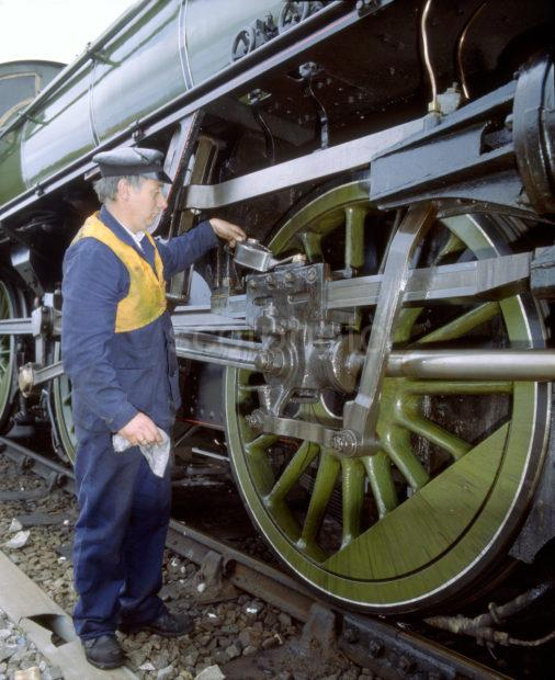 Oiling The Wheels Of The K1 At Mallaig