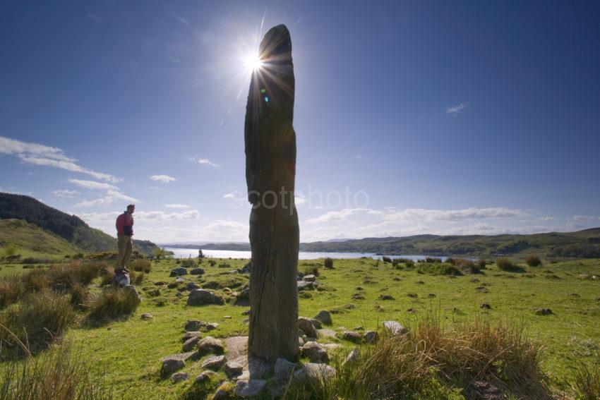 WY3Q9904 Standing Stone Starburst Loch Craignish