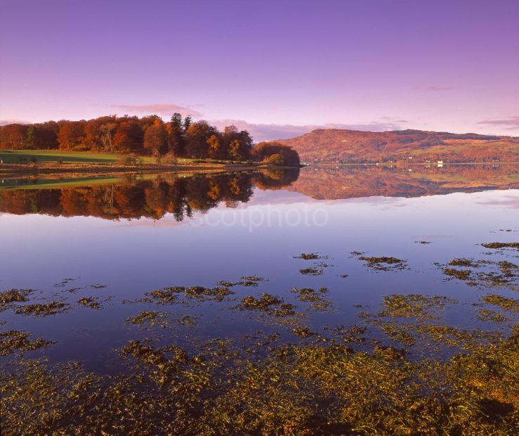 Peaceful Autumn Reflections On Loch Etive Argyll