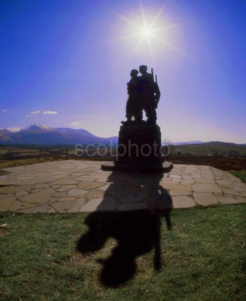 Silhouette Of The Commando Memorial Spean Bridge Full Image
