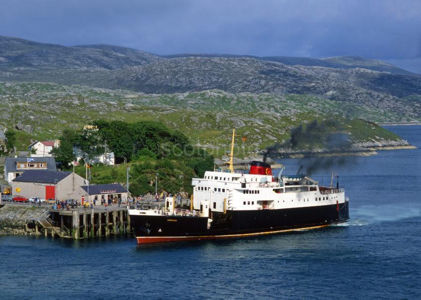 MV Hebrides Docks At Tarbert Pier Isle Of Harris