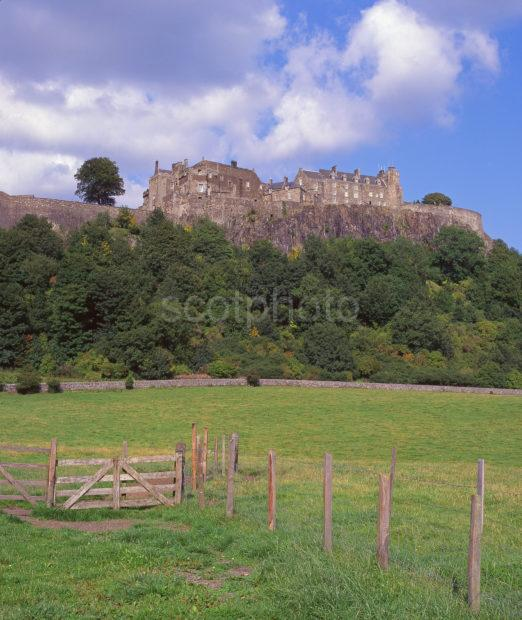 View Of Stirling Castle Perched Upon Its Volcanic Cragg Stirling Central Scotland