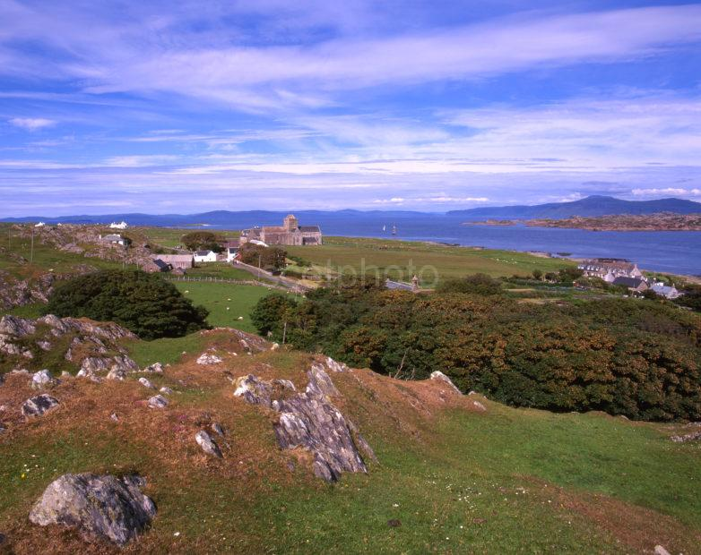 Towards Iona Abbey And Distant Mull Island Of Iona