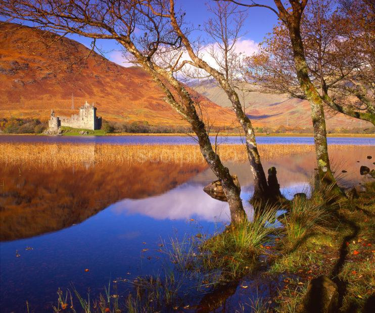 Autumn View Across Loch Awe Towards Kilchurn Castle Loch Awe Argyll