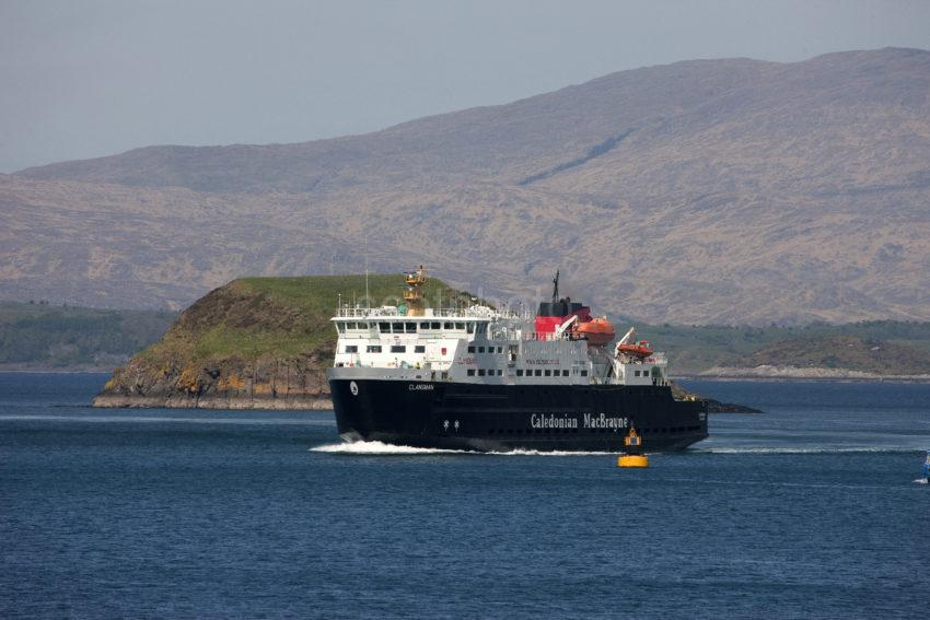 MV CLANSMAN ARRIVES OBAN BAY